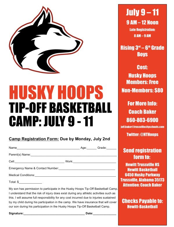 Huskies to host youth skills basketball camp