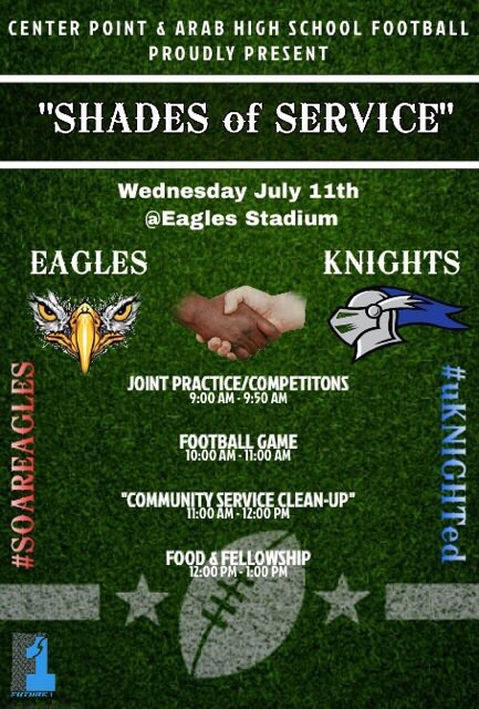 Center Point football to host Shades of Service Project