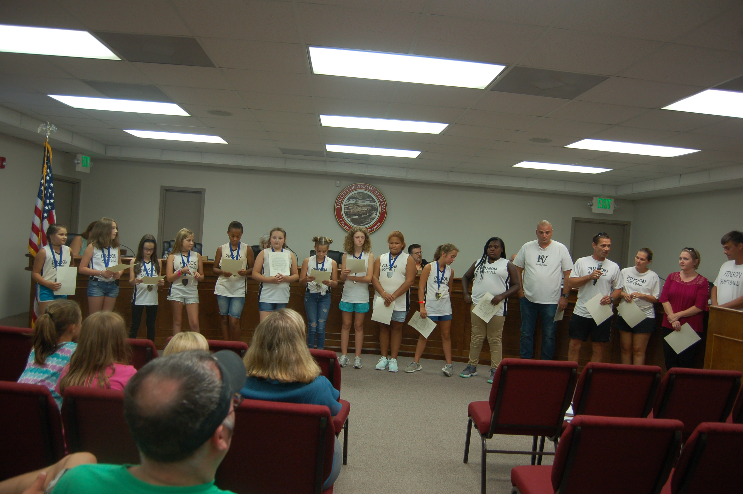 Pinson City Council passes annexation resolutions, recognizes girls' softball team