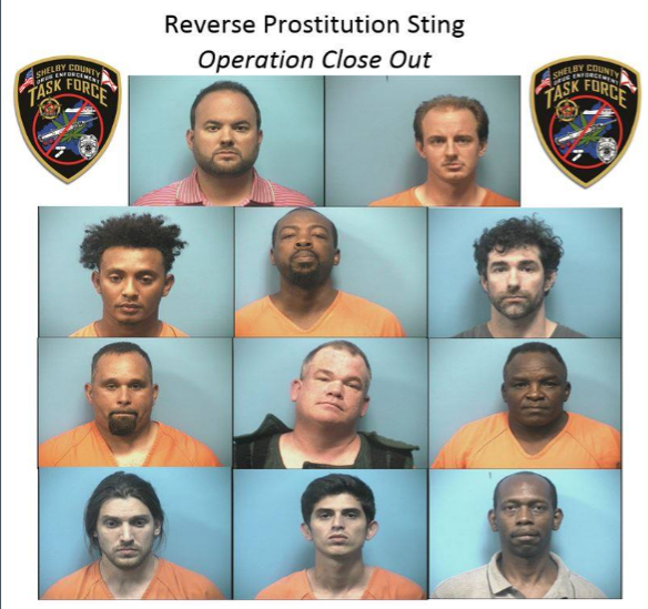 11  'Johns' arrested in reverse prostitution sting on Hwy 280