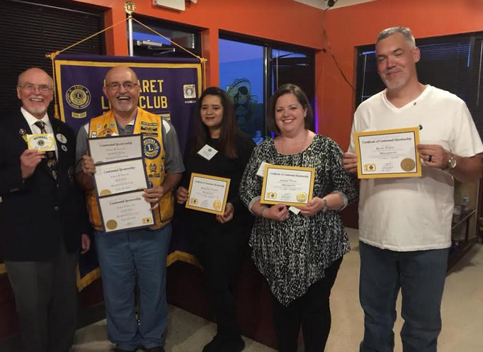 Margaret Lions club inducts three new members