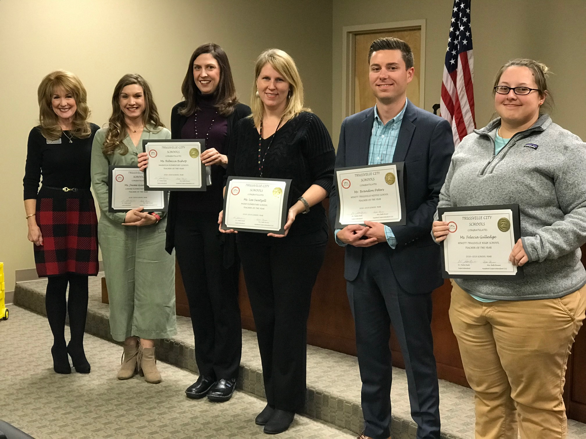 Trussville City Schools Board of Education recognizes outstanding teachers of the year