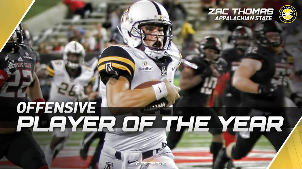 Former Husky Zac Thomas earns Sun Belt Conference offensive player of the year