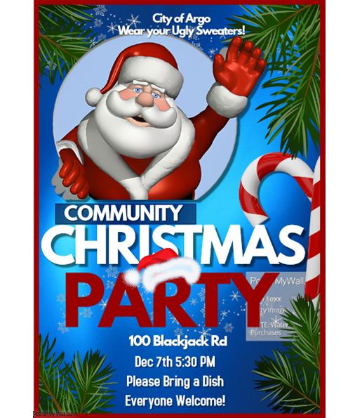 Argo to host a Christmas Party on Dec. 7, moves Christmas Parade to Dec. 15