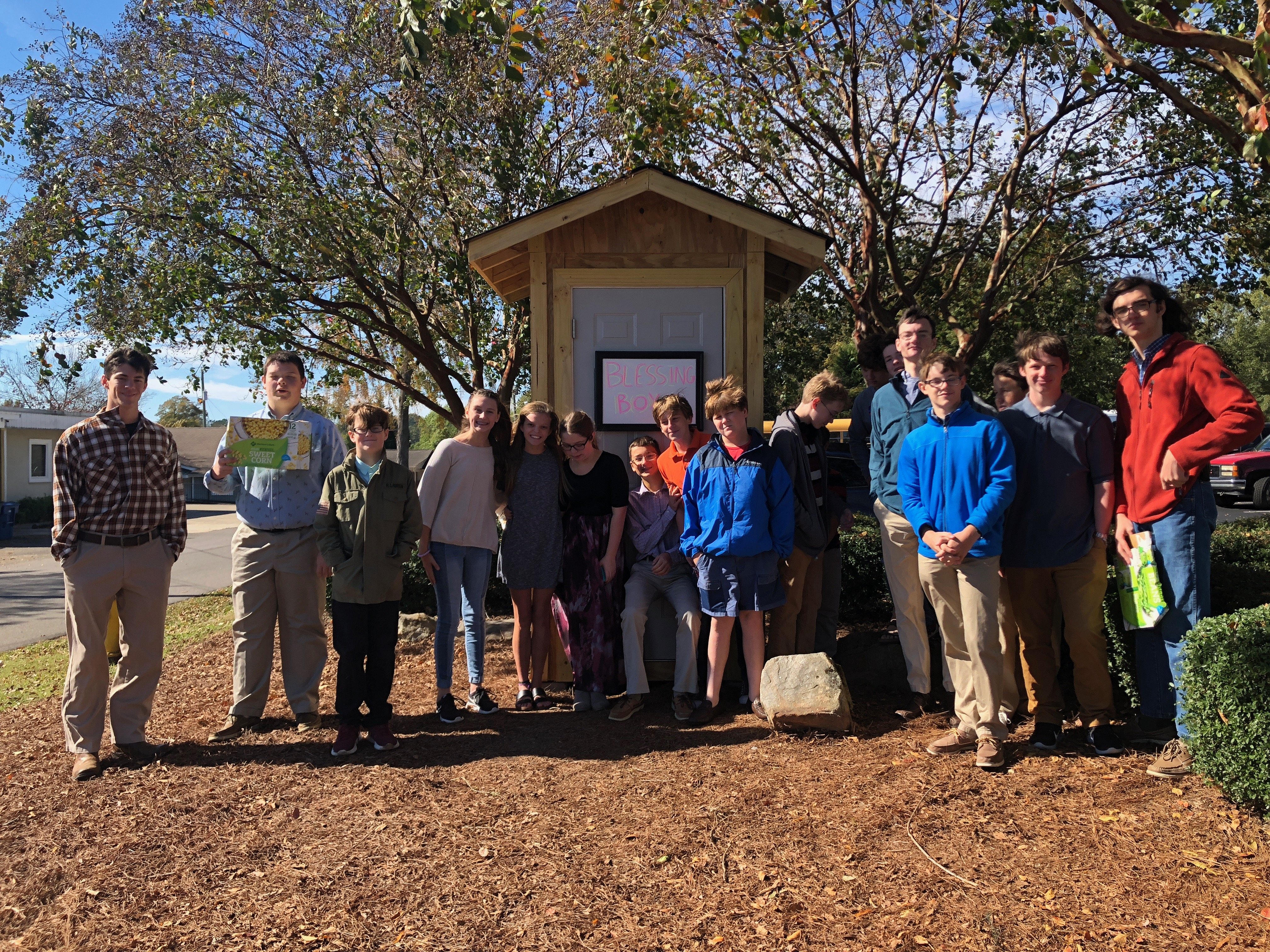 Blessing Box from FUMC youth provides 24/7 access to those in need