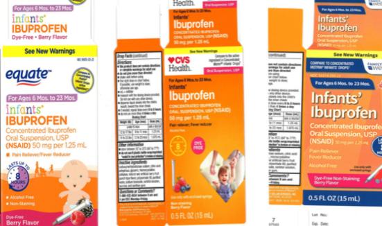 infant ibuprofen sold at walmart cvs family dollar recalled the