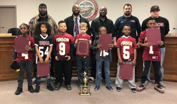 Pinson honors 8U Football Team