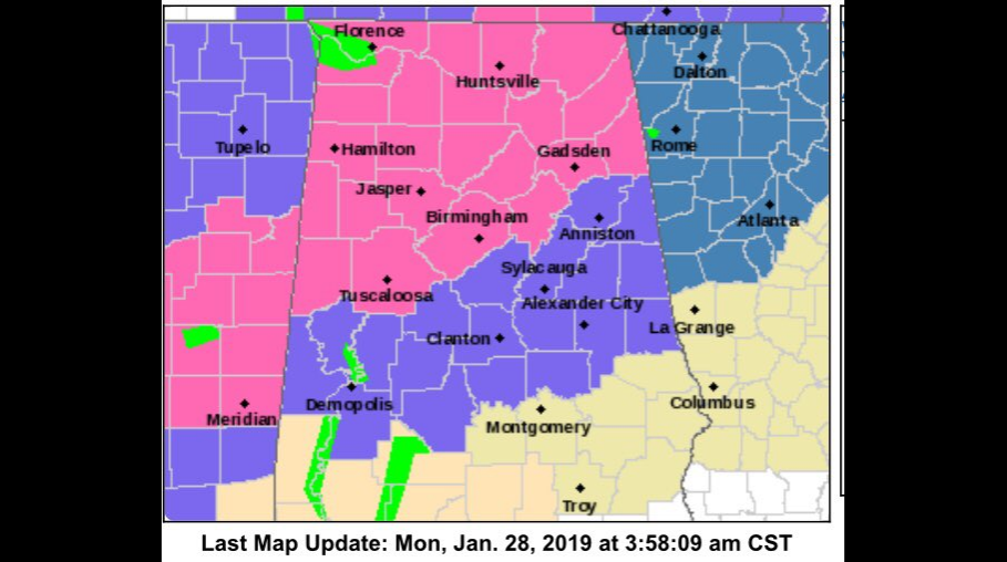 Monday Update: Winter storm warning issued, projection of snow amounts increase