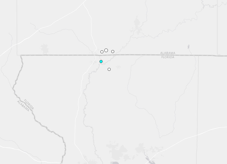 5th earthquake in 17 days rattles Alabama/Florida line