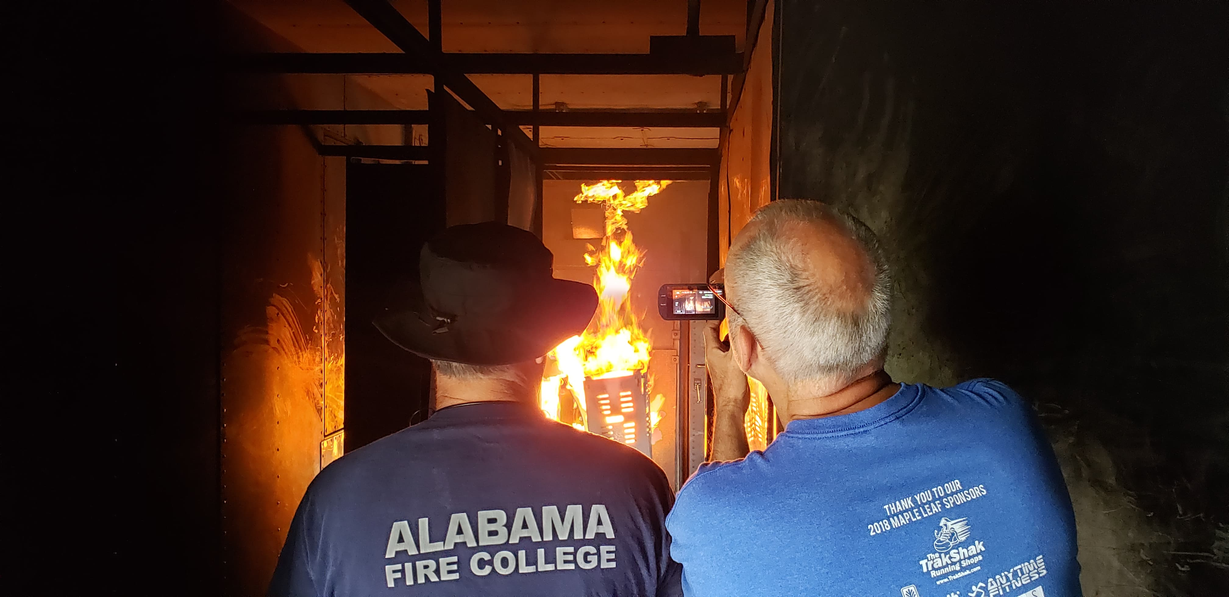 VIDEO: Local firefighters train on Alabama Fire College mobile unit