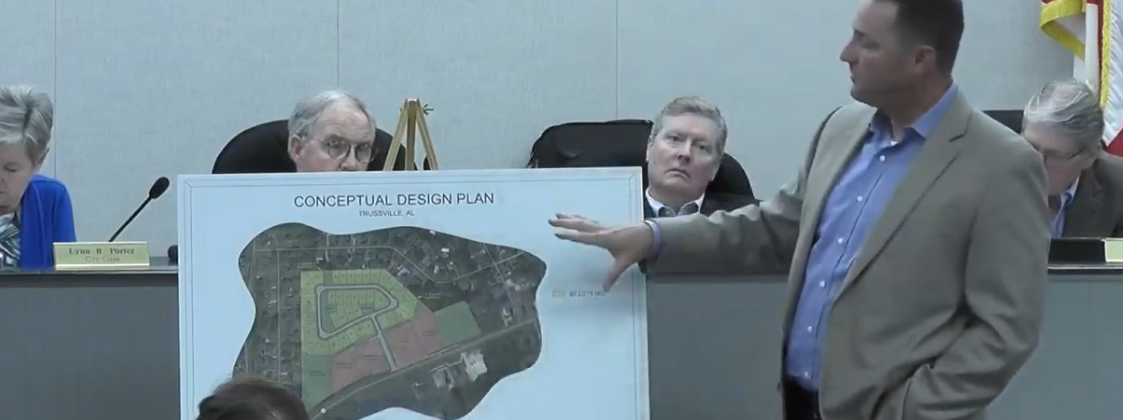 VIDEO: Trussville City Council meeting on Tuesday addressed rezoning request on U.S. 11, massage businesses