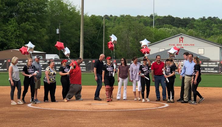 Seniors honored at HT varsity softball game against Prattville