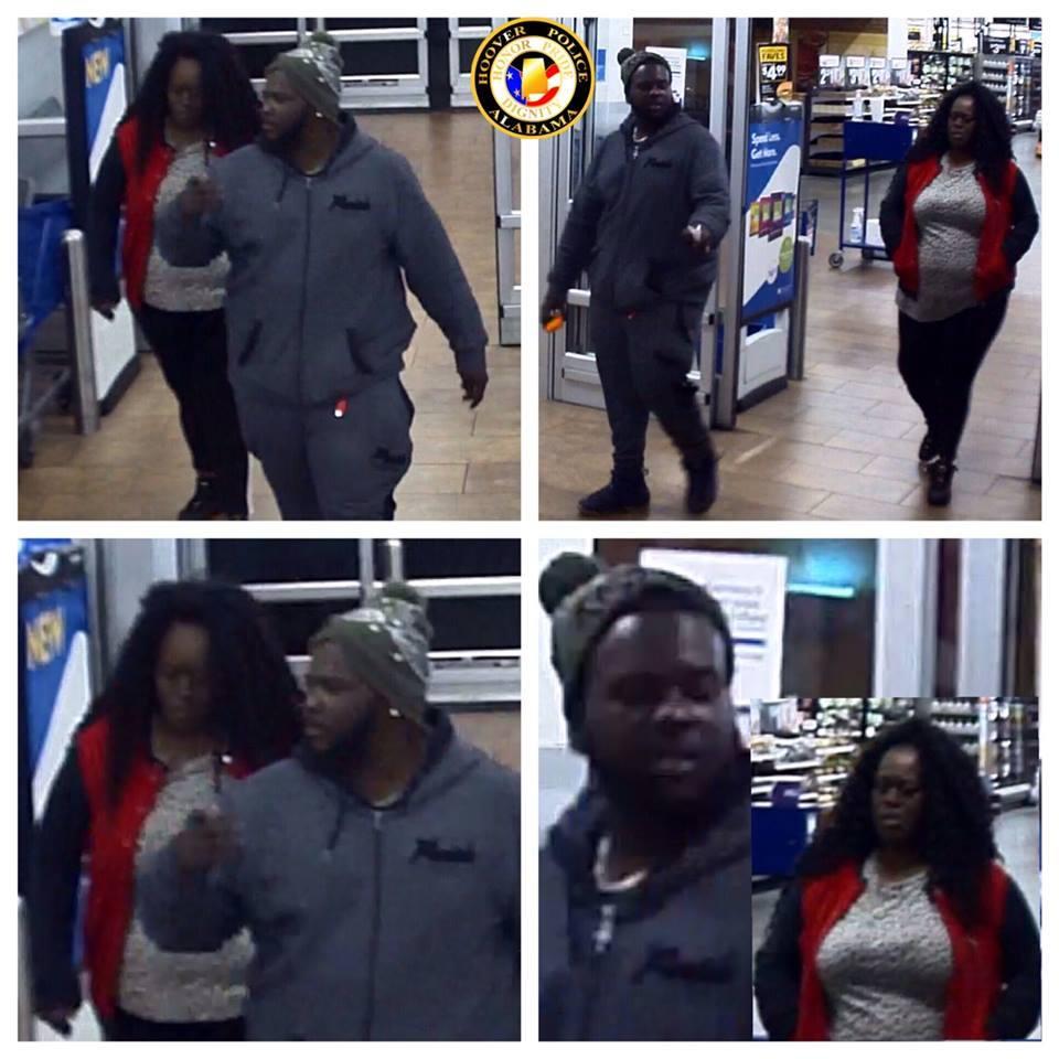 Hoover Police: Man and woman use credit card stolen from car