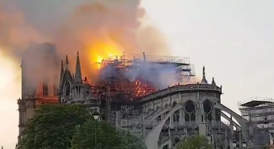 Large fire rips through Notre Dame cathedral