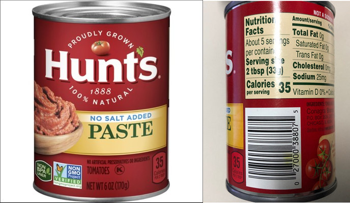 Recall issued for Hunt's Tomato Paste due to possible mold concerns