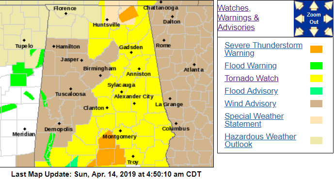 Severe weather warnings/watches (updated) – The Trussville