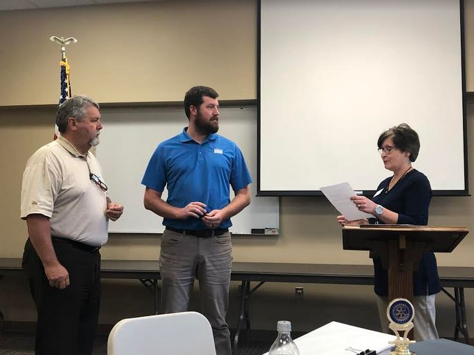 New member inducted, recognized by Trussville Rotary Daybreak Club