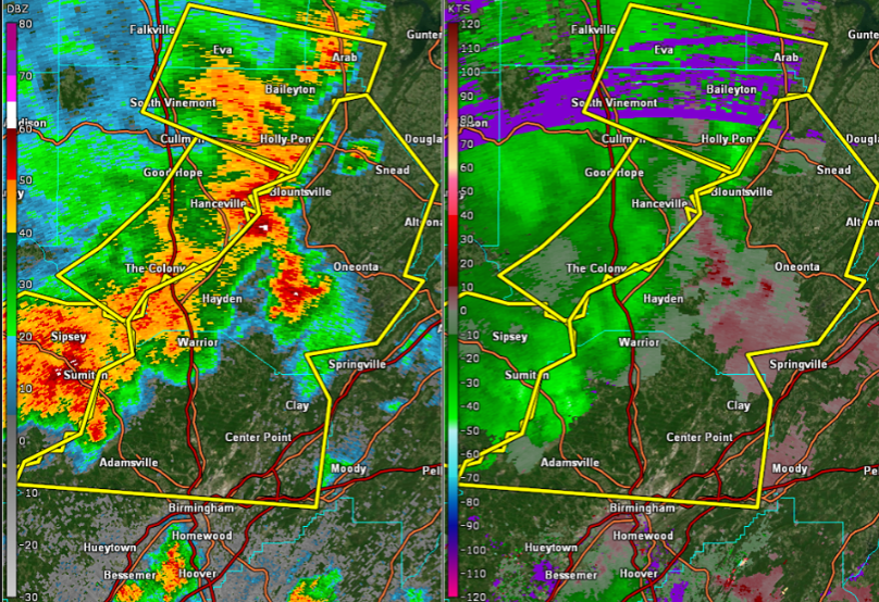 Severe thunderstorm warning issued for Jefferson, Blount counties