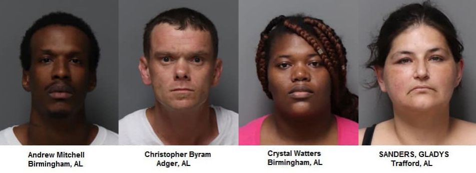 4 arrested on shoplifting charges in Trussville
