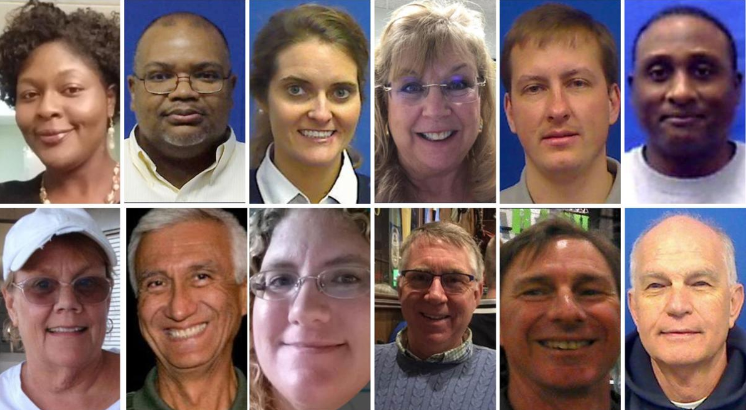Who are the 12 victims of the Virginia Beach mass shooting?