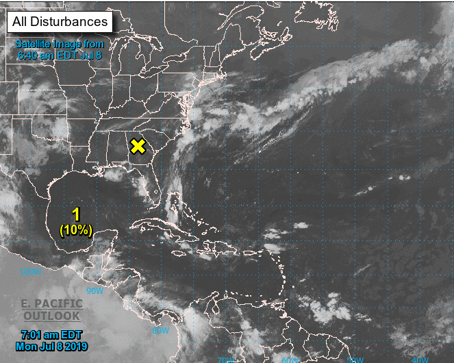 Hurricane center says tropical depression likely in Gulf
