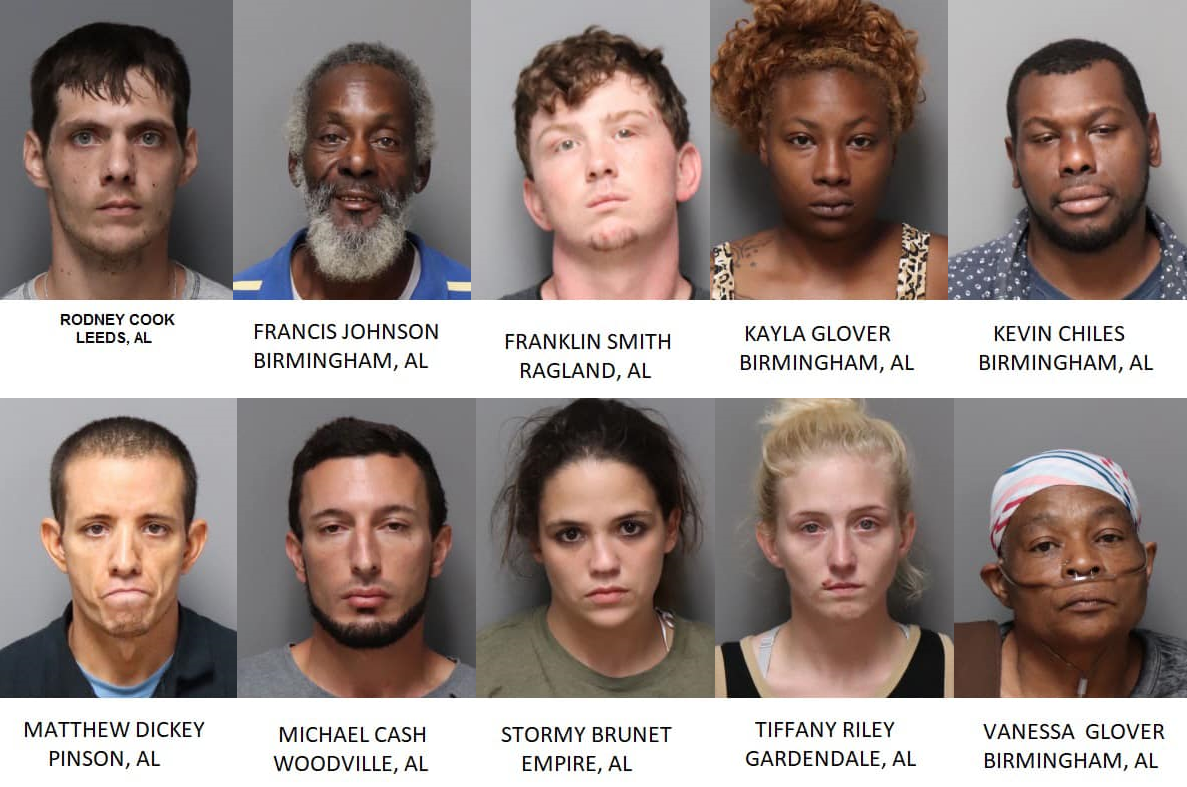 10 arrested for shoplifting in Trussville