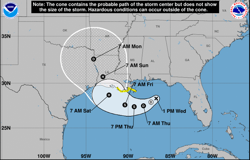 Tropical Storm Barry forms in Gulf, could become hurricane