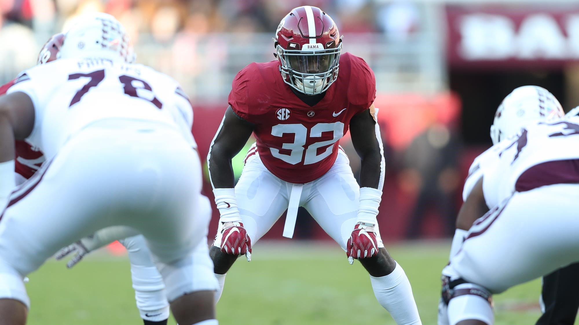 Alabama LB Dylan Moses out indefinitely with knee injury