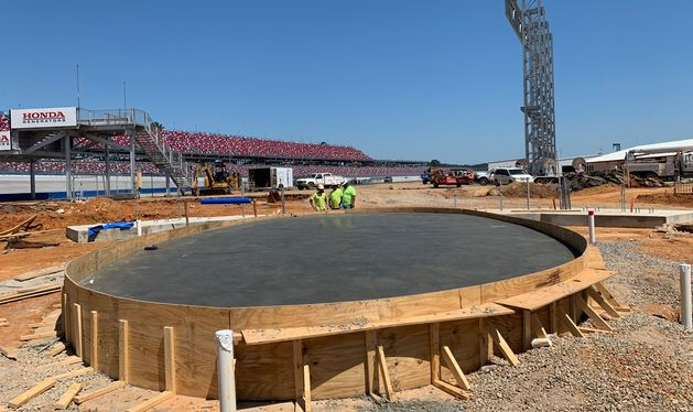 New Winner's Circle at Talladega Superspeedway is taking shape