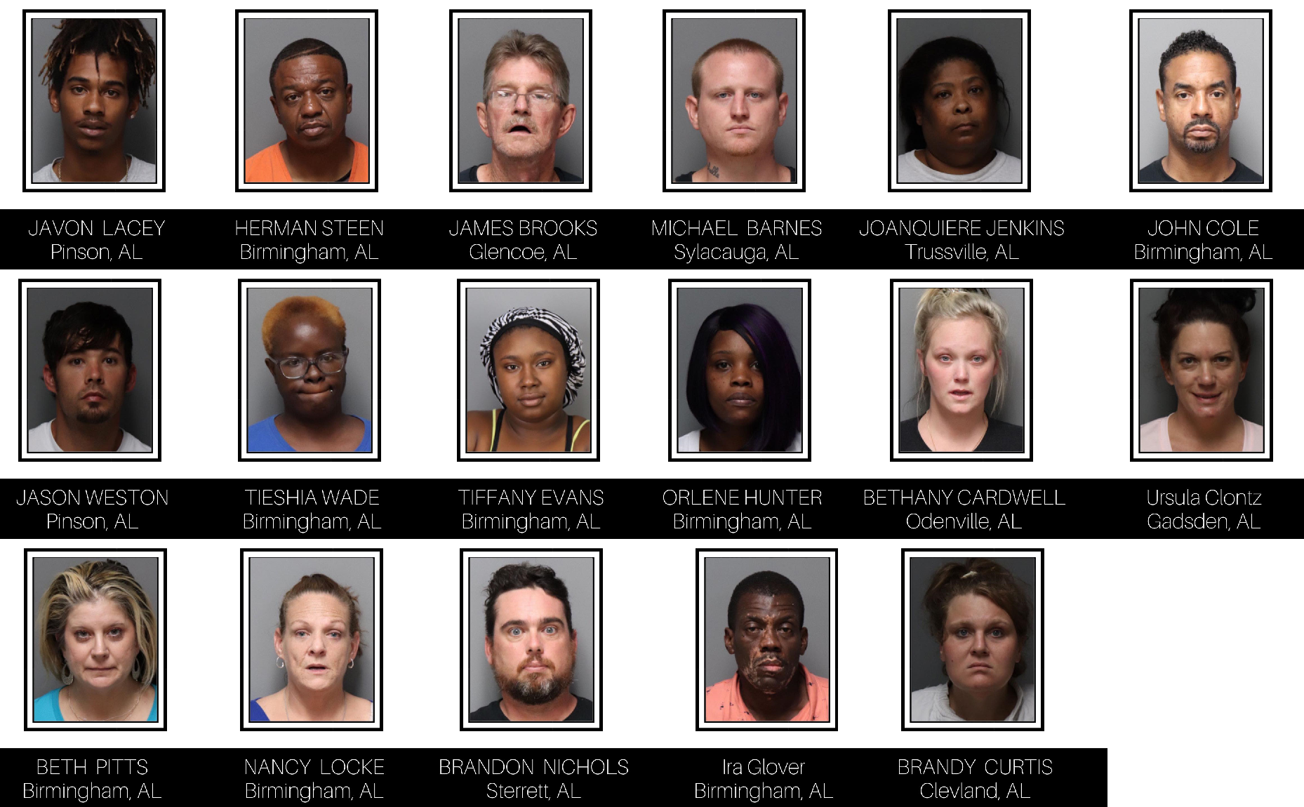 POLICE: 17 people arrested in 7 days for shoplifting in Trussville