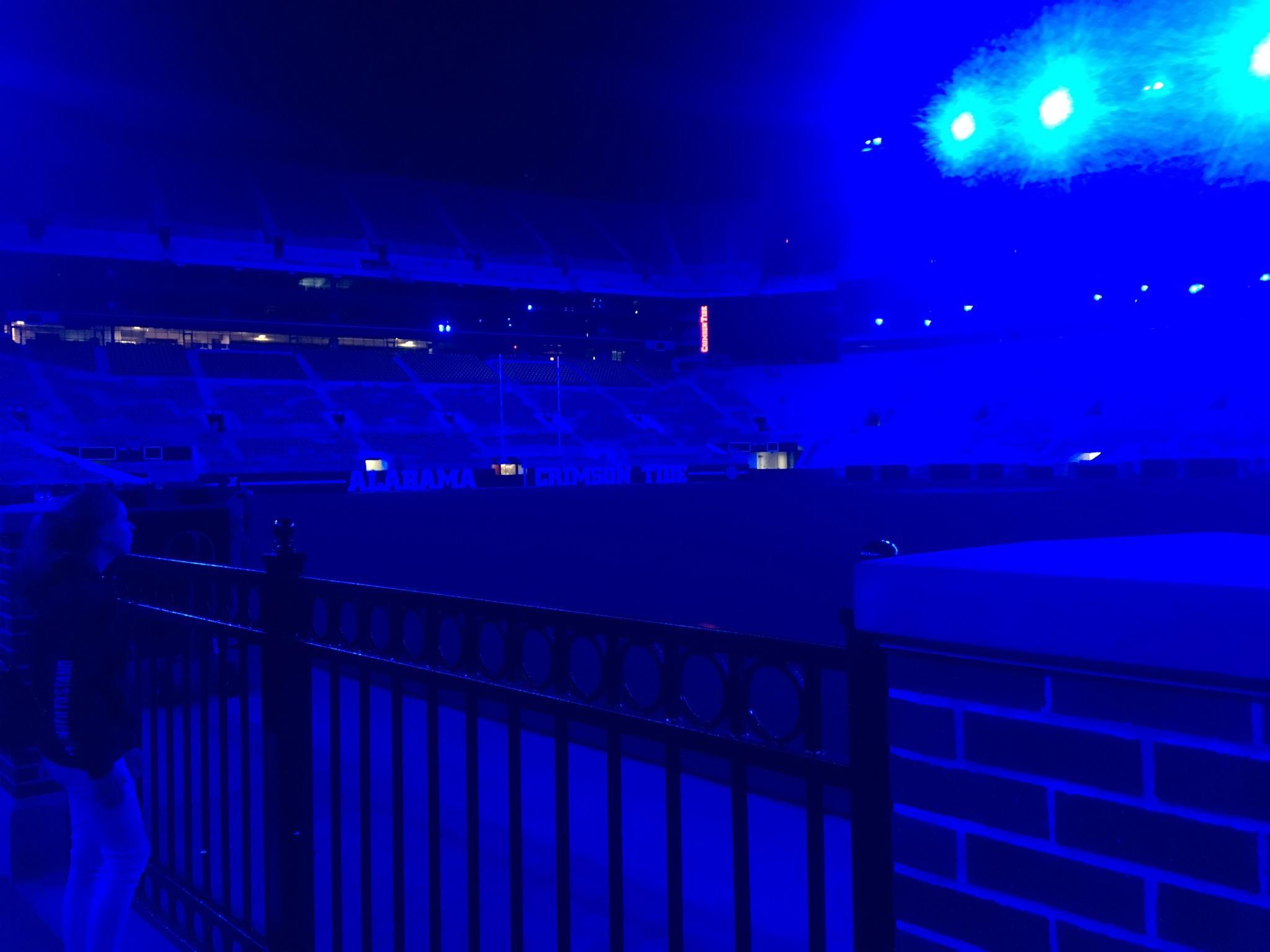Bryant-Denny Stadium turns blue for slain Tuscaloosa police officer