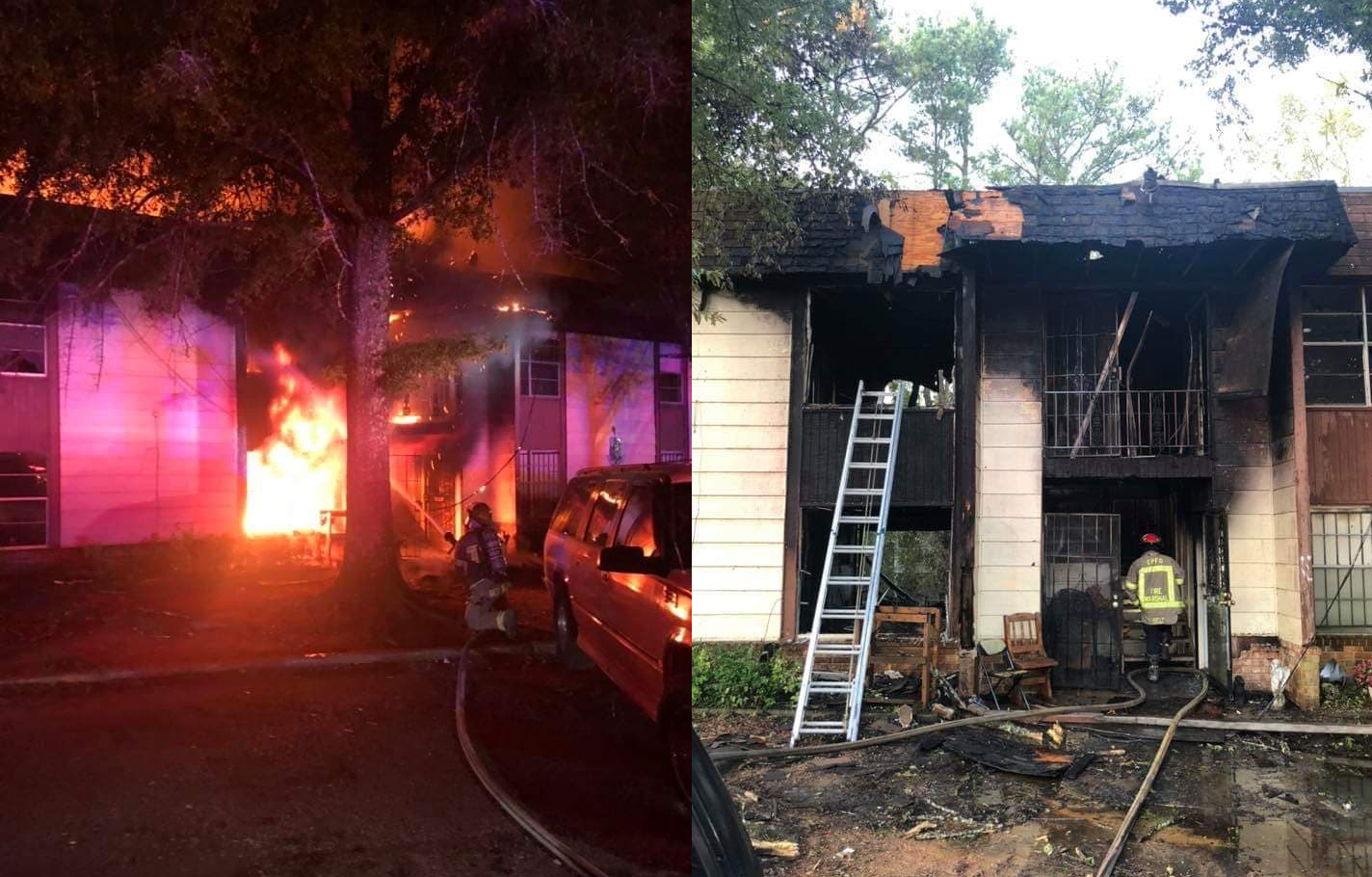 1 person hurt in Center Point apartment fire, 12 displaced