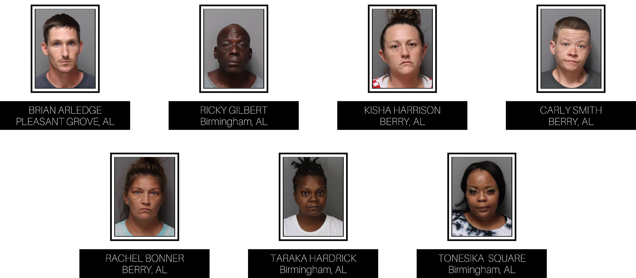 7 charged with shoplifting in Trussville