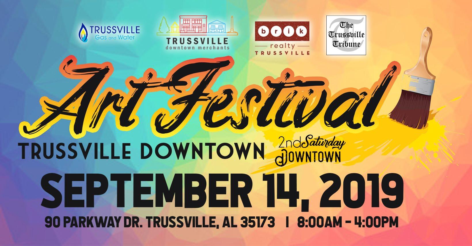 2nd Saturday Downtown Trussville: Art Festival