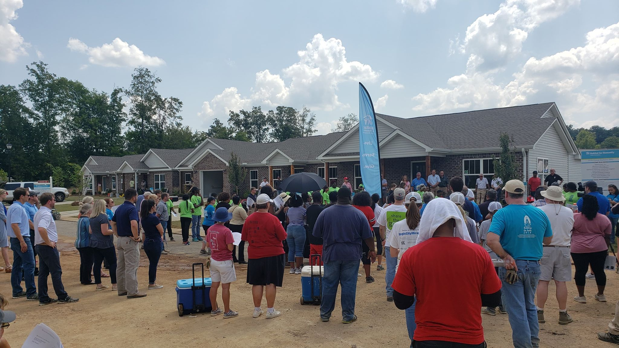 14 homes dedicated in Center Point for Habitat for Humanity