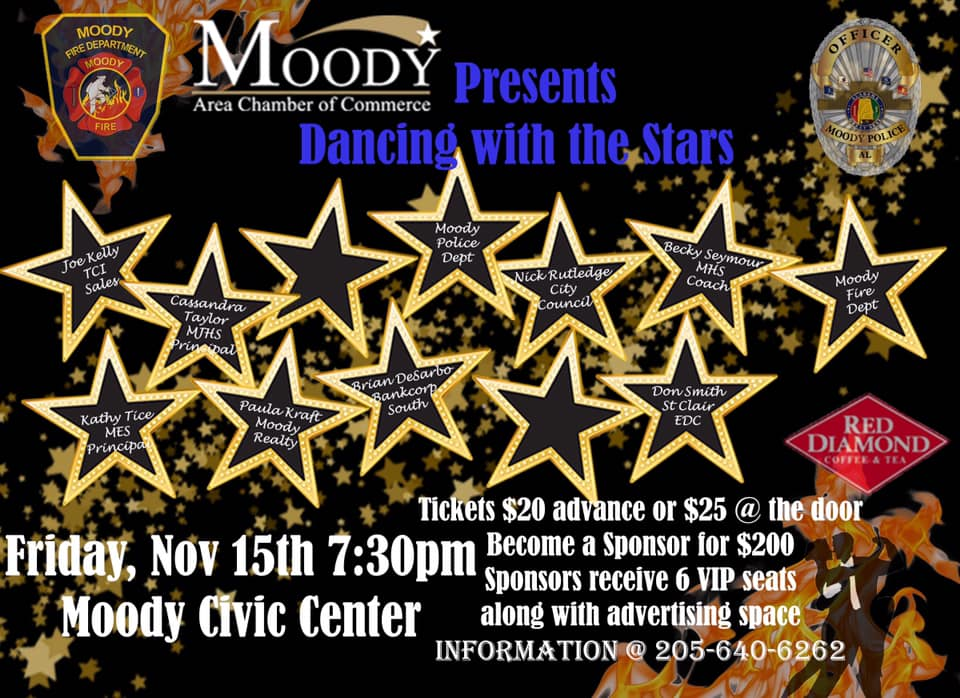Moody Area Chamber of Commerce hosting 'Dancing with Moody Stars'