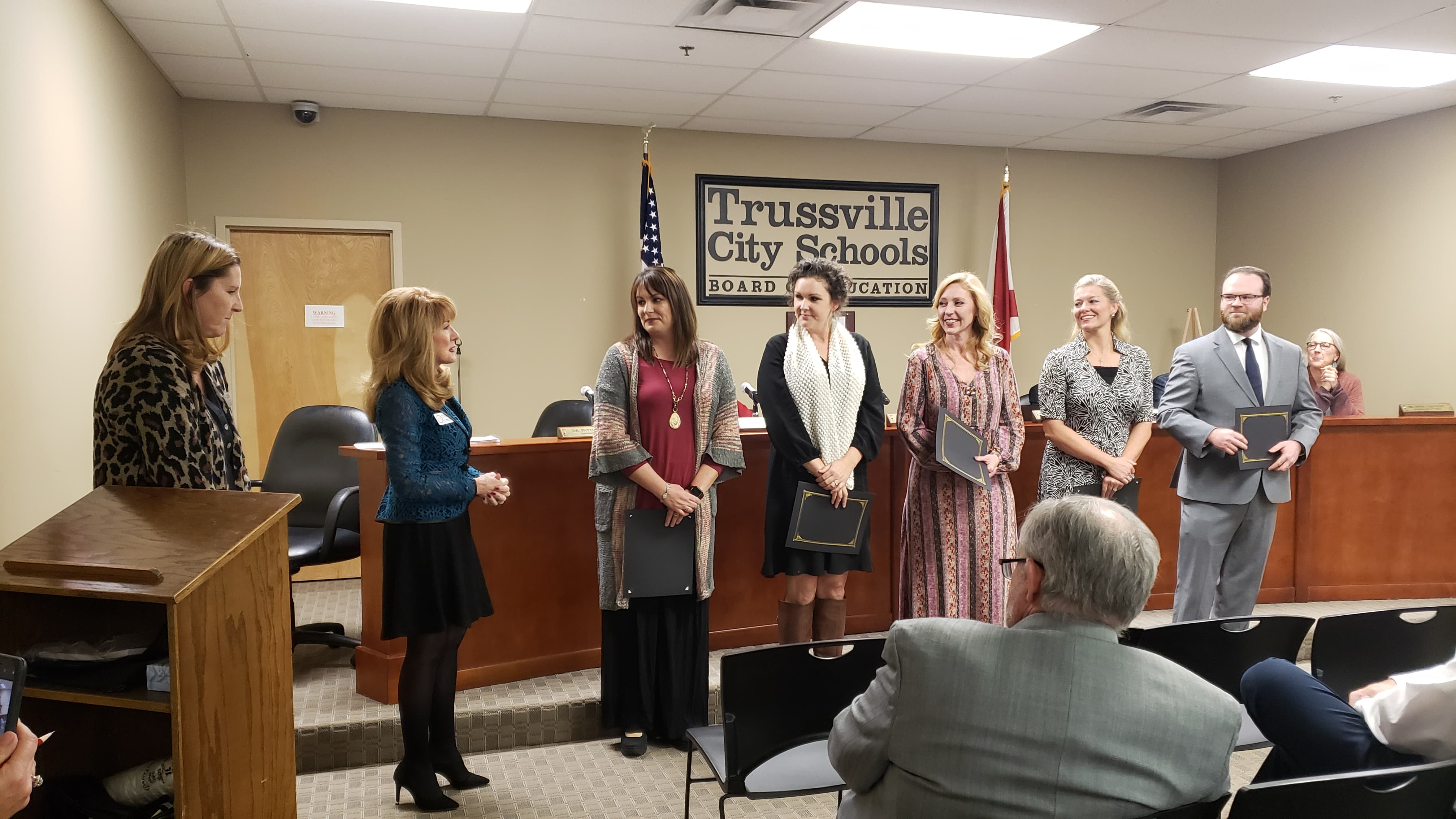 Trussville City Schools Teachers of the Year honored at BOE meeting