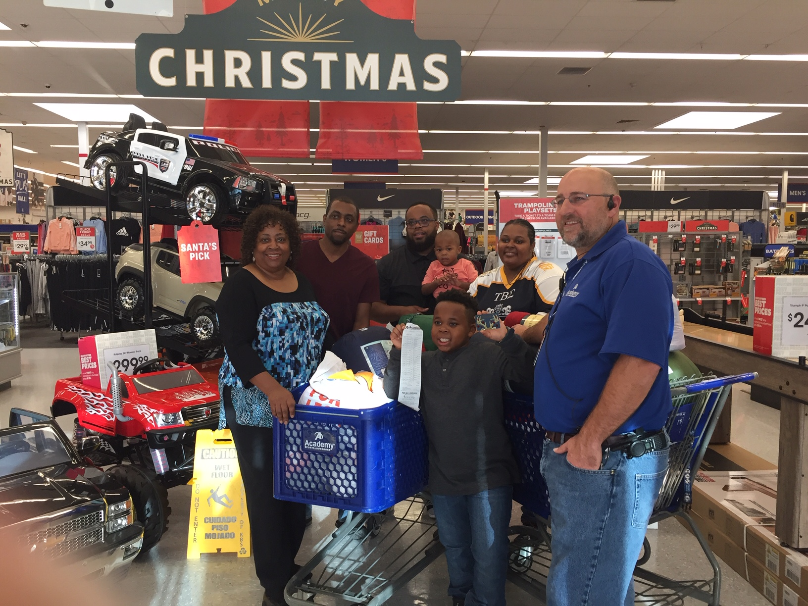 Academy Sports + Outdoors in Trussville helps child with shopping spree to help homeless