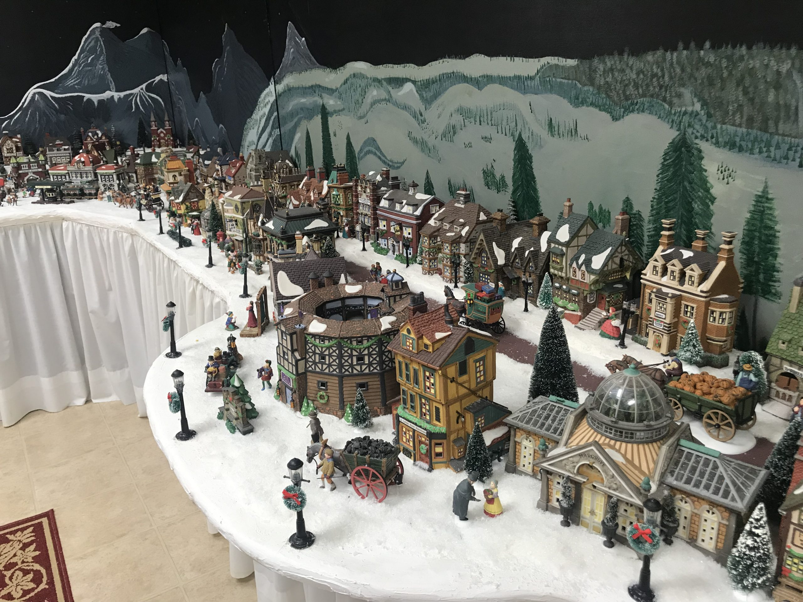 Trussville couple creates detailed Christmas village in their home