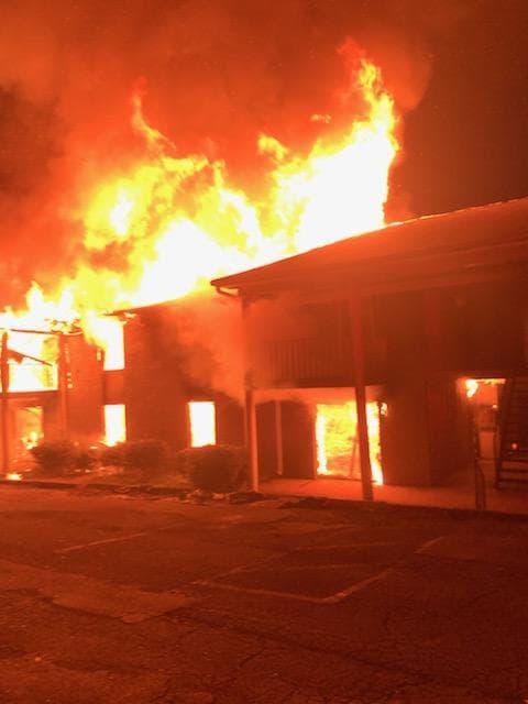PHOTOS: Parkway Villa Apartment fire, Center Point Fire & Rescue