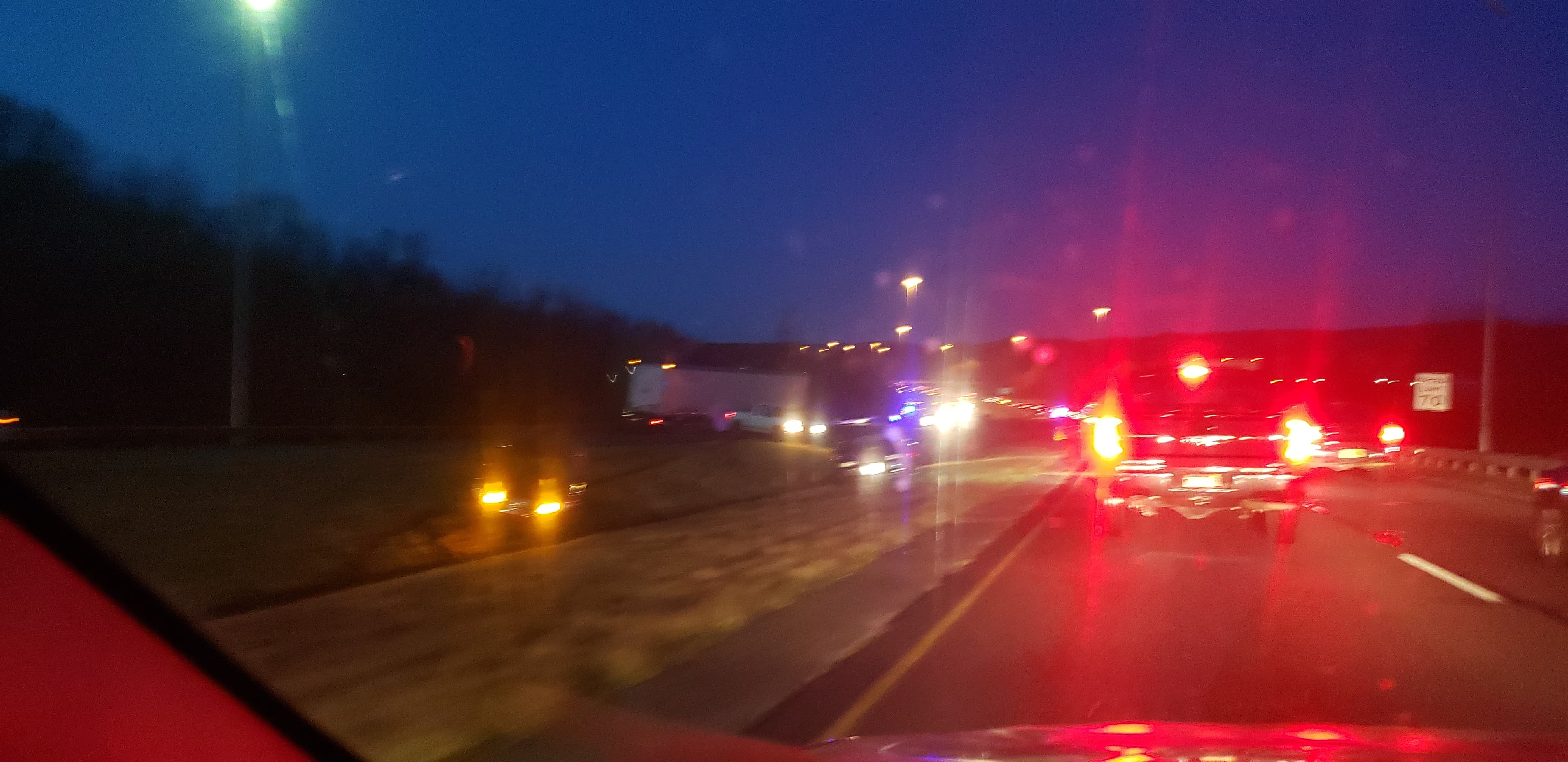 Icy roads causing traffic problems Wednesday morning