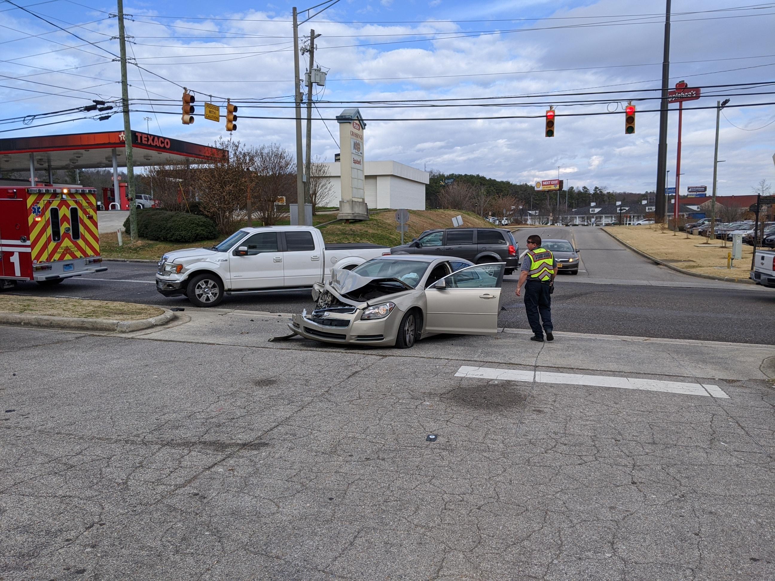 2 vehicle collision on North Chalkville slows traffic