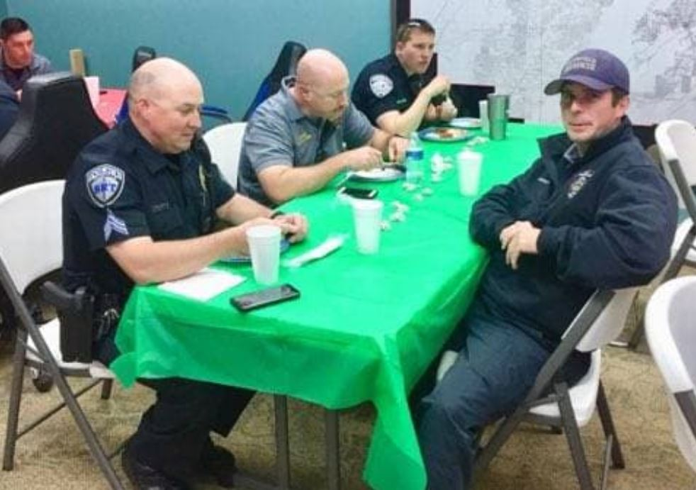 Trussville community members feeding police and fire in December