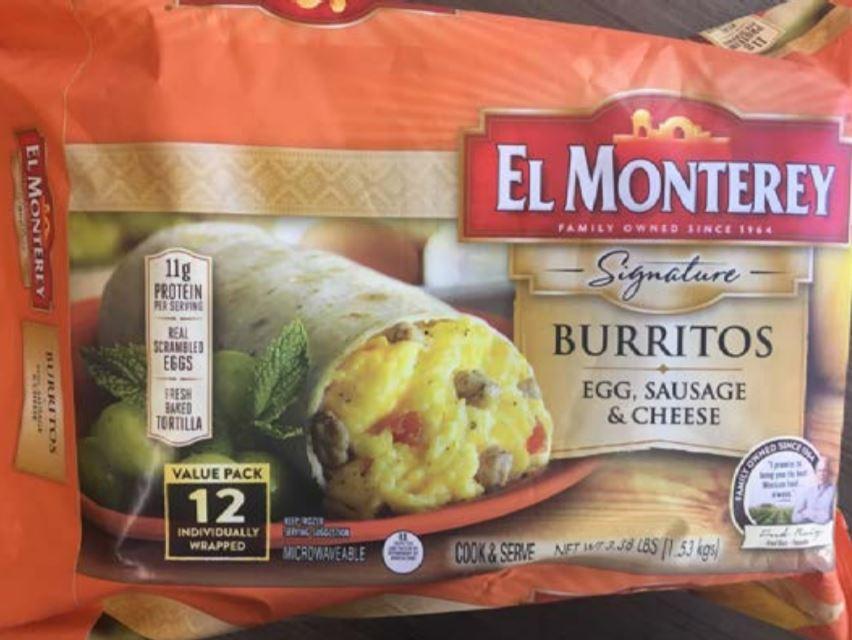 RECALL: Breakfast burrito by Ruiz Food Products, Inc.