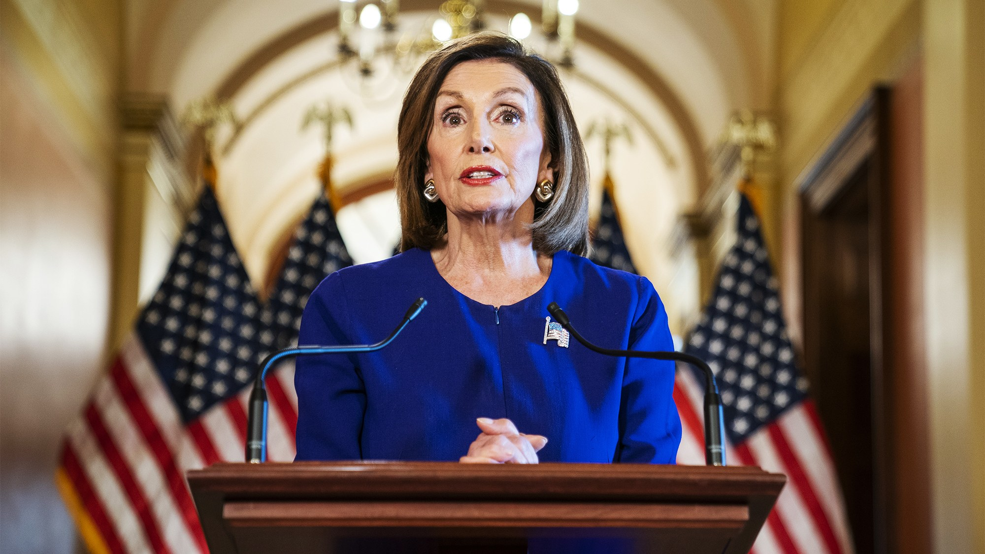 House will draft Trump impeachment articles, Pelosi states that 'our democracy is what is at stake'