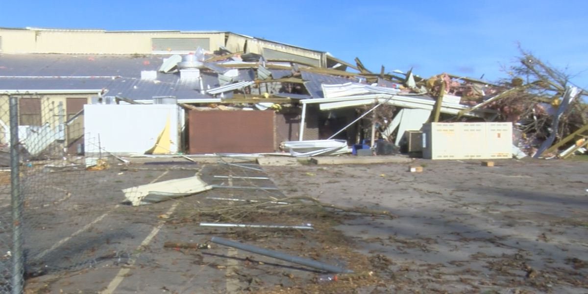 Alabama school district coping with damage after tornado
