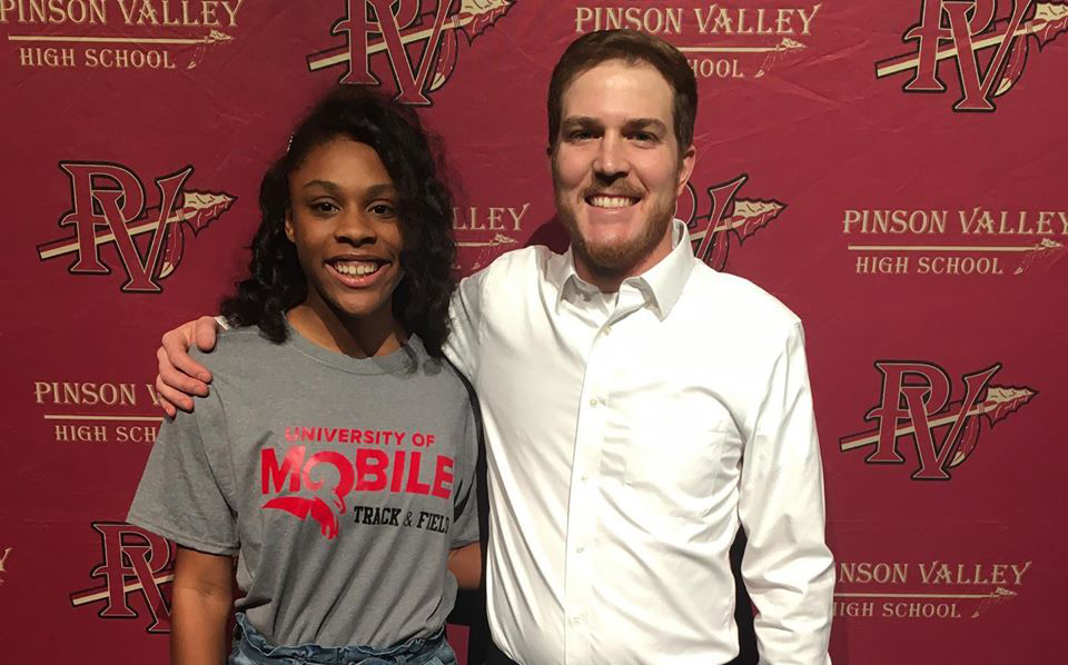 Pinson Valley track and field's Brianna Page signs with University of Mobile