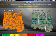 THE LATEST: Severe weather threat Saturday, NWS gives threat timing details