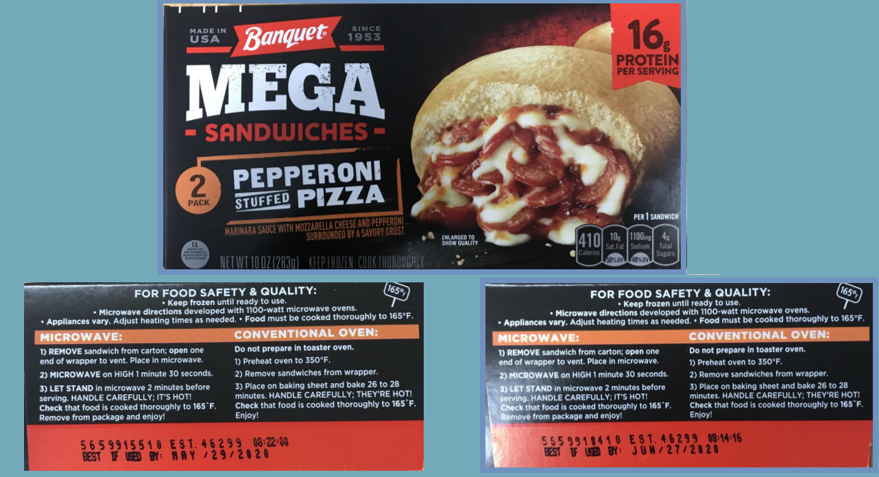 RECALL ALERT: Pizza sandwich products mislabeled