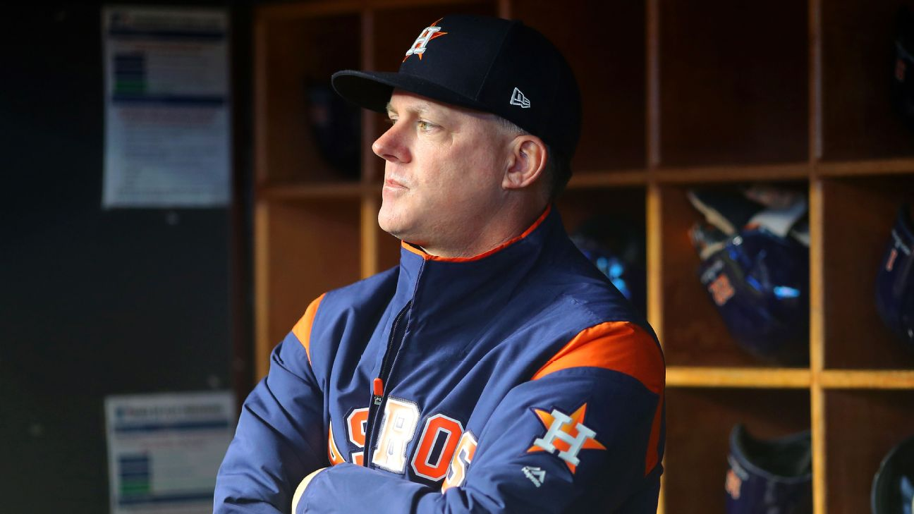 Astros' Hinch, GM banned for season for sign-stealing